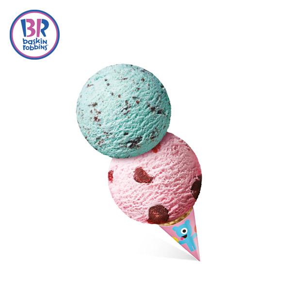 (배스킨라빈스) 더블레귤러 아이스크림