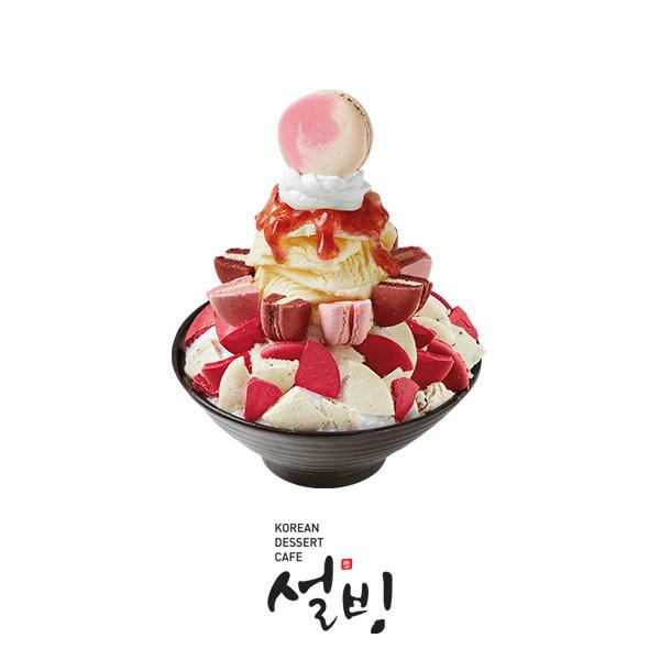 설빙_딸기마카롱설빙